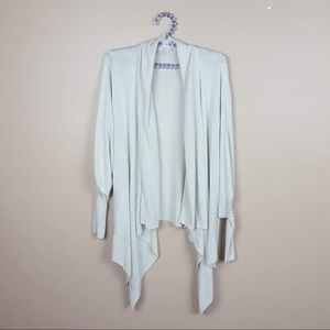 CAbi light tan handkerchief cardigan size large